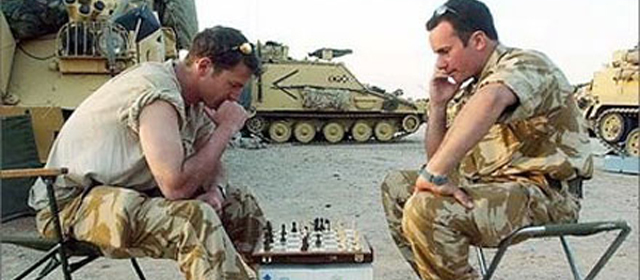 Soldiers Playing Chess